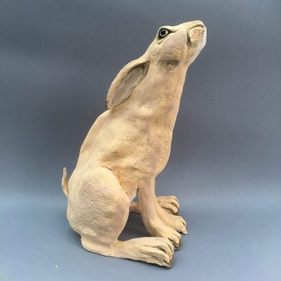 Meadow Hare - Ceramic - 30cm - by Gill Hunter Nudds