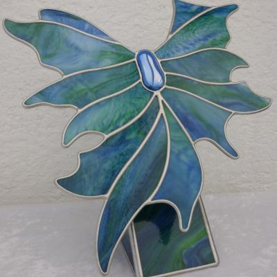 flight - stained glass - 30 x 30 cms - by Jane Fowler