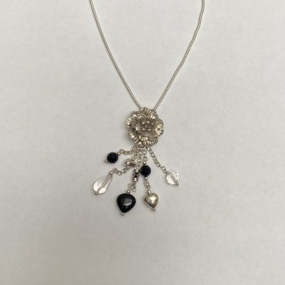 Rose - Sterling silver and semi-precious gemstone - Small - by Margaret Hurst