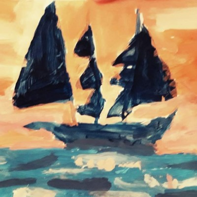 Sailing Home - Painting - 30 x 21 cm - by Otto Haigh