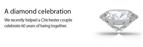 Diamond wedding anniversary catering