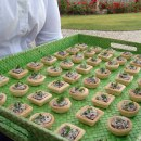 Mushroom tarts at the Boxgrove Music Festival