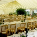 Wedding marquee and table arrangement