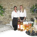 Catering staff members at Grittenham Barn wedding