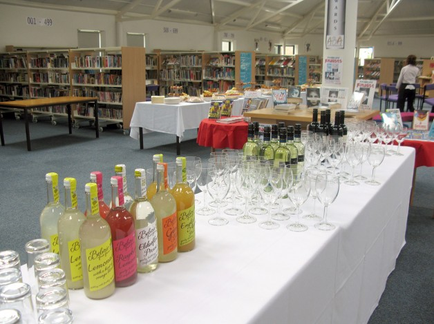 Ready for refreshment in the library