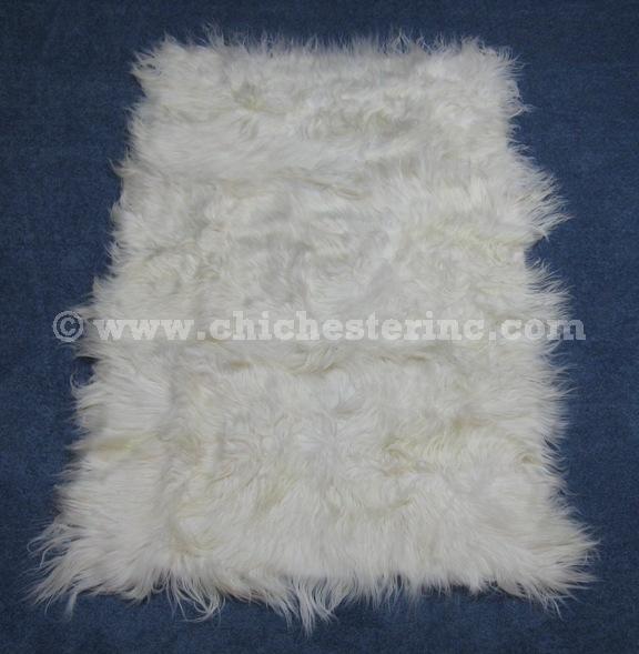 Kidassia Rugs or White Goatskin Rugs or White Goat Rugs or