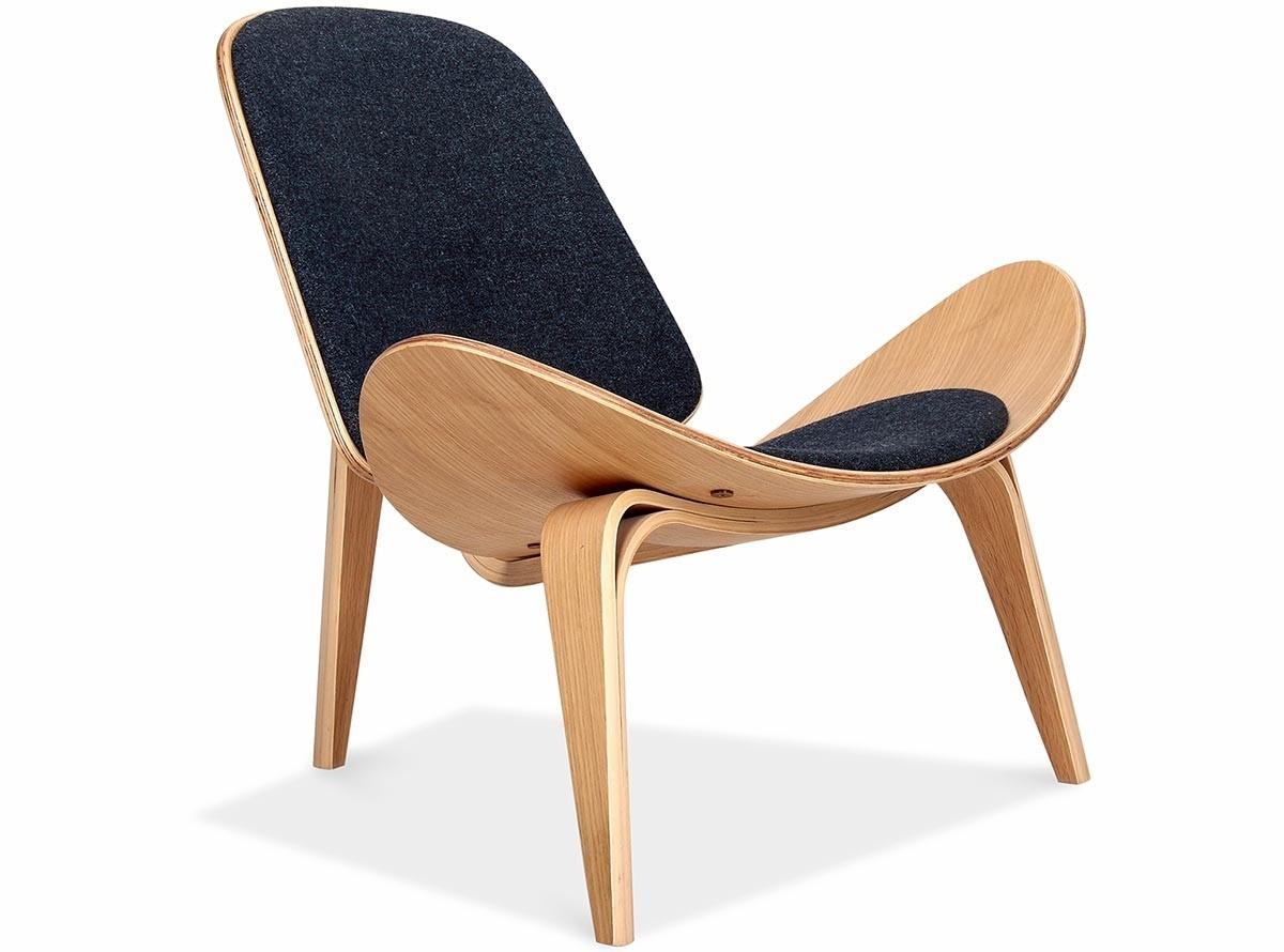 shell chair replica back massage ch07 by hans wegner platinum