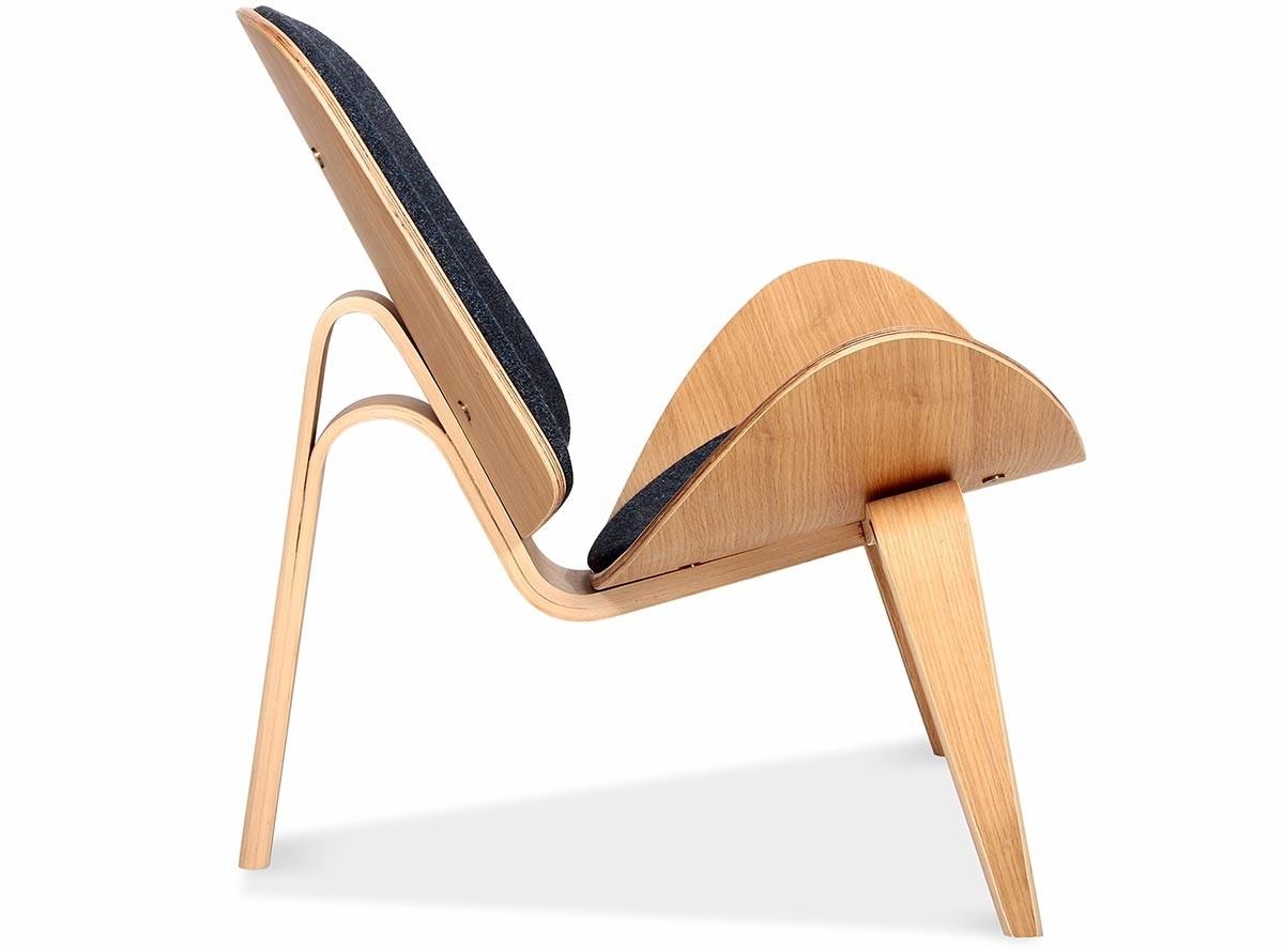 shell chair replica vintage chrome chairs ch07 by hans wegner platinum