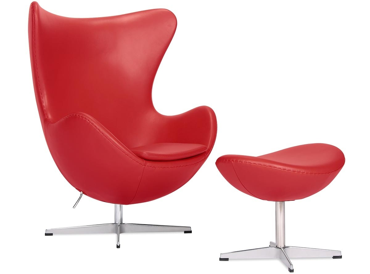 pink egg chair replica drafting staples by arne jacobsen leather platinum red