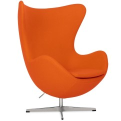 Pink Egg Chair Replica Swivel Patio Chairs And Table By Arne Jacobsen Orange Platinum