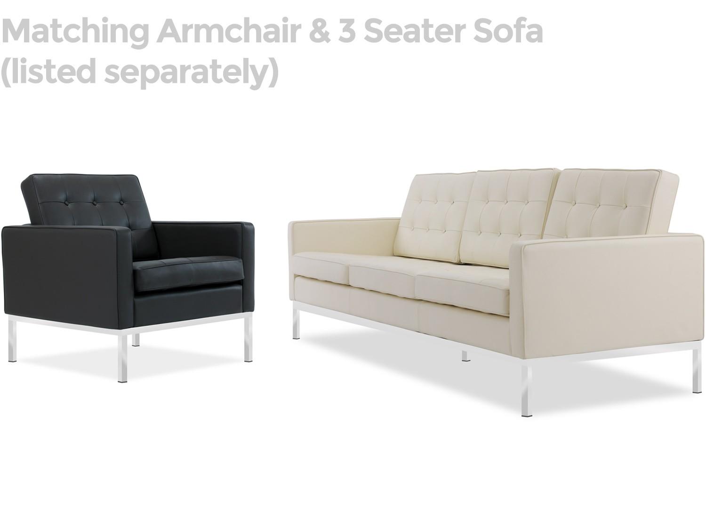 florence knoll sofa teak wood set bangalore 2 seater leather platinum replica