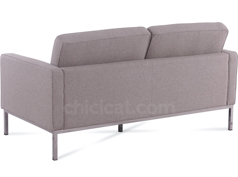 sofa florence knoll replica jonathan adler quality 2 seater platinum
