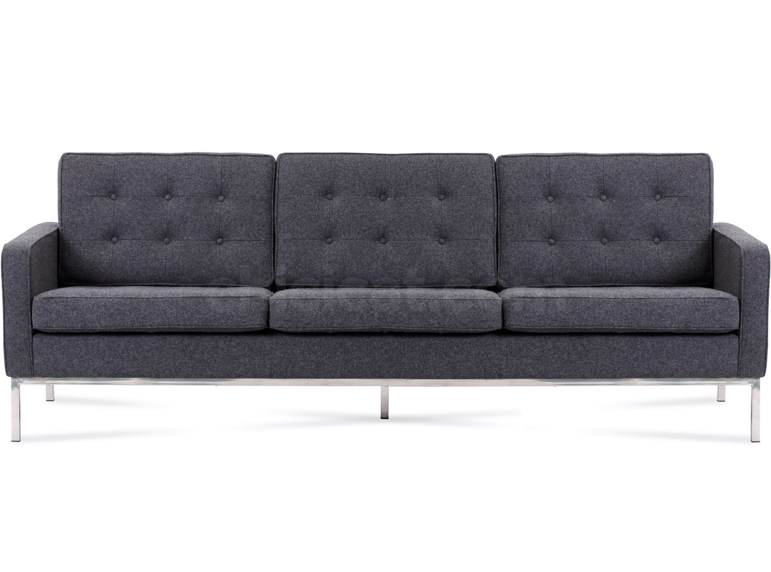 Florence Knoll Sofa 3 Seater Wool Platinum Replica