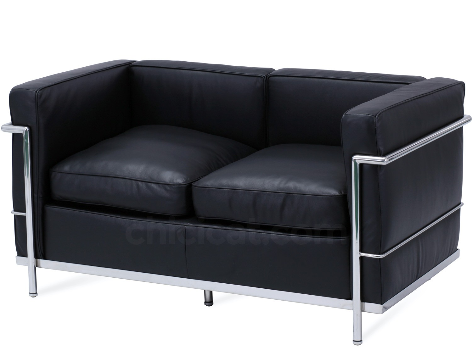 le corbusier sofa replica lee industries prices lc2 2 seater platinum chicicat petit confort black