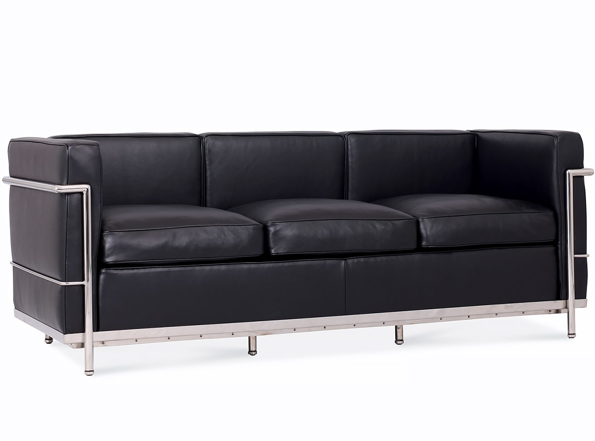 le corbusier sofa replica reese lc2 3 seater platinum chicicat