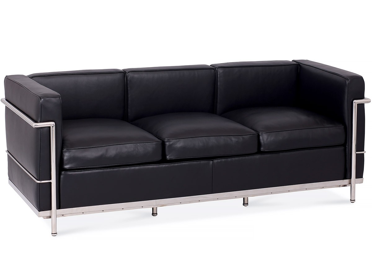 le corbusier sofa replica leather quality ratings lc2 3 seater platinum chicicat