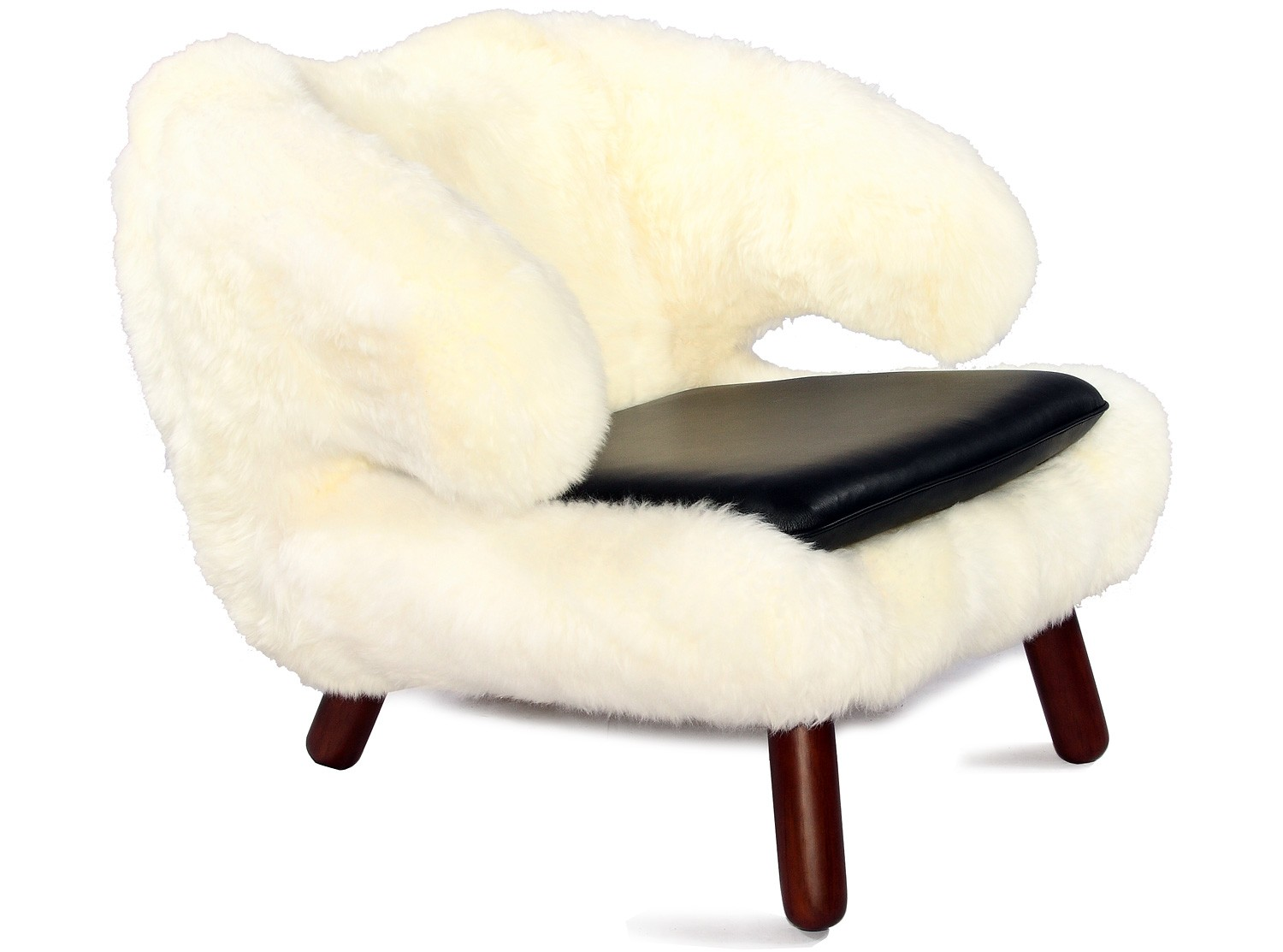 sheepskin chair pad australia rio brands beach chairs uk pelikan in by finn juhl collector replica