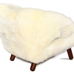 Sheepskin Chair Pad Australia Menards White Lawn Chairs Pelikan In By Finn Juhl Collector Replica