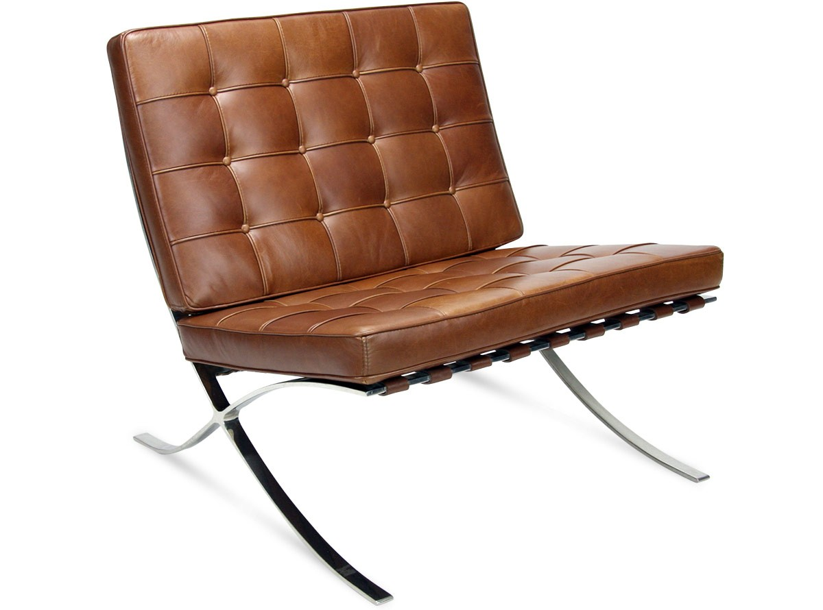 barcelona chair used good posture tv by mies van der rohe platinum replica