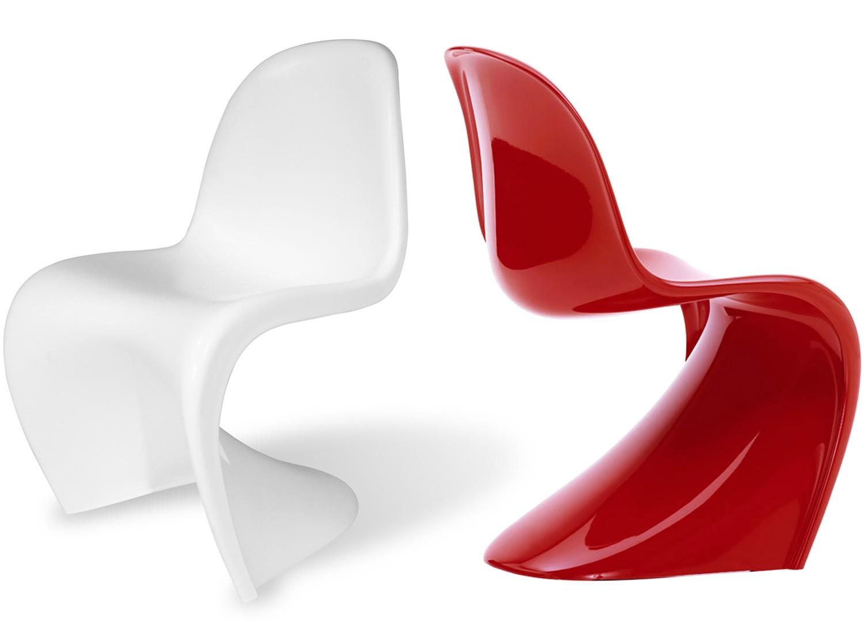 panton s chair lazy boy leather chairs recliners fibreglass platinum replica