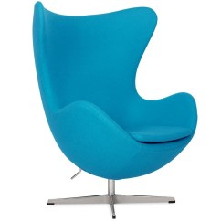 Blue Egg Chair Seat Pockets For School Chairs