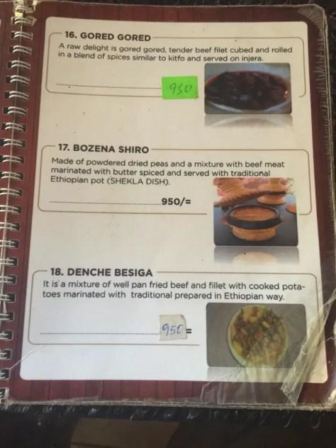 Habesha Restaurant Nairobi Menu - page 6