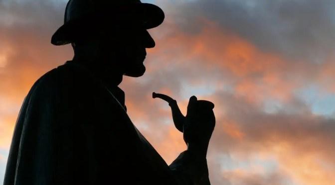 Sherlock Holmes Statue. Sherlock's Den is located at th e Nakumatt Ukay complex