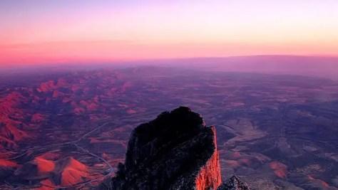Purple Sunset on Hills