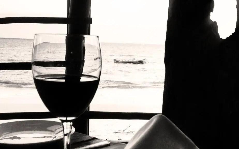 Glass of Wine at Mediterraneo Dar es Salaam