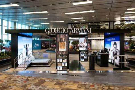 Armani perfume, including Acqua di Gio, being sold at Singapore Changi Airport