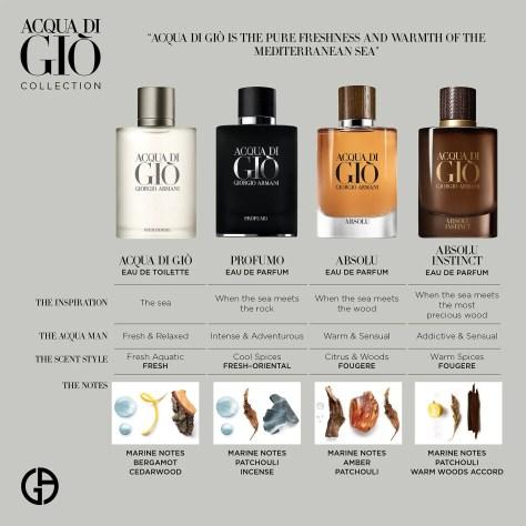 Armani perfume: Flavours of Acqua di Gio for men