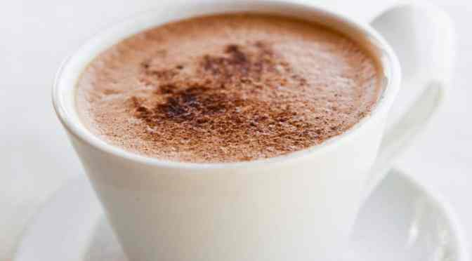 A cup of hot chocolate
