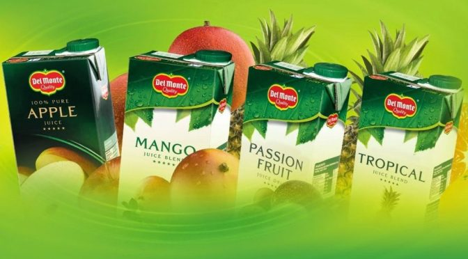 Packets of Delmonte Juice