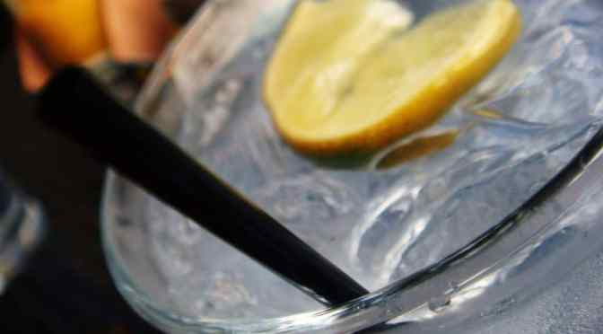 Gin and Tonic made with Gilbey's Gin