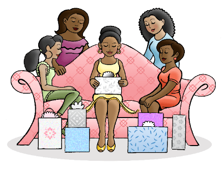 baby shower venues Nairobi - women opening presents