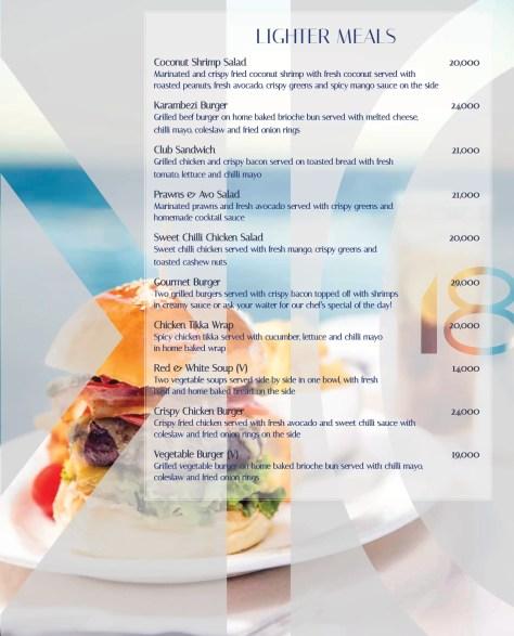 Karambezi menu: Lighter meals