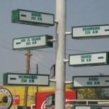 Direction Post at Mwanza Airport