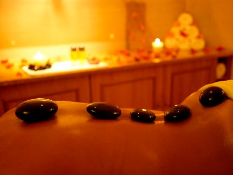Hot stone massage available at Lemon Spa Arusha