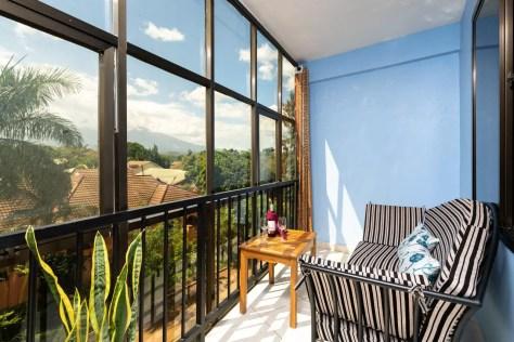 Balcony at Mrimba Palm Hotel, Arusha