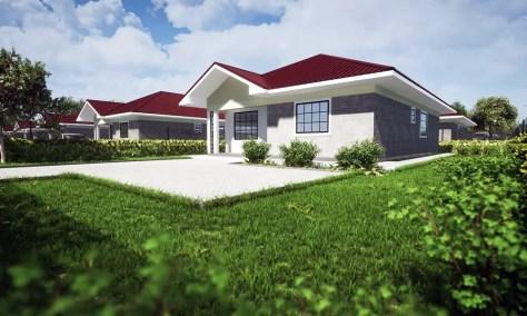 A visualization of a bungalow at Rock Gardens II Ruiru Estate