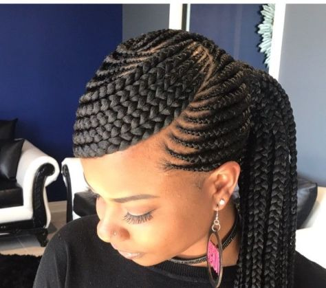 Abuja hairstyles in Nairobi/Mwongezo Styles in Kenya - a braided bang