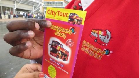 Johannesburg hop on hop off City Sightseeing Joburg Uniformed Attendant