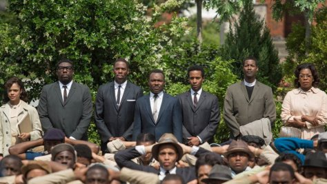 Shot in Selma Movie of Protesters Outsied the Selma Courthouse