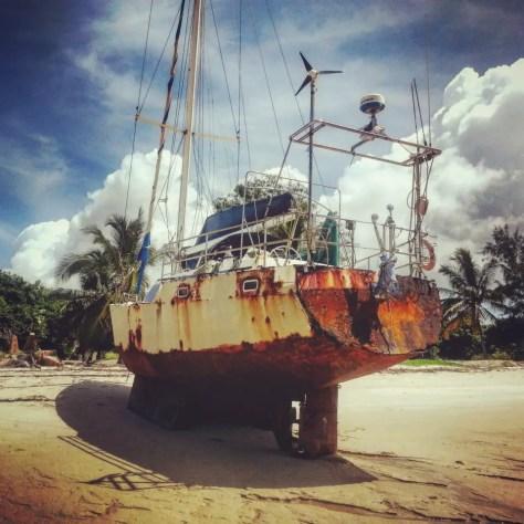 Rusty boat, Kilwa, Tanzania