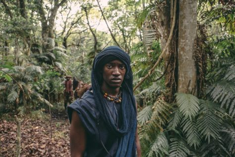 Malachi Kirby as Kunta Kinte filmed in the Dlinza Forest near Eshowe