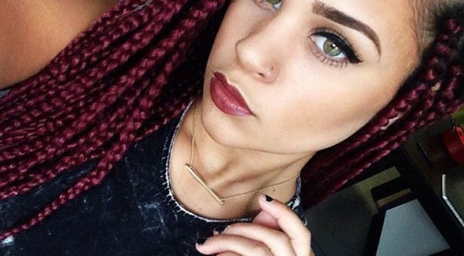 Maroon Braids & 5 Other Great Maroon Hair Styles