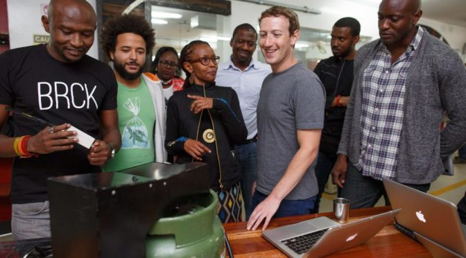 Facebook CEO Mark Zuckerberg in Kenya