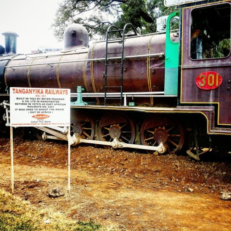 A Former Tanganyika Railways Train at the Nairobi Railway Museum