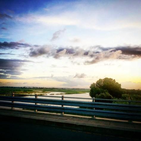 Sunset over the Mkapa Bridge