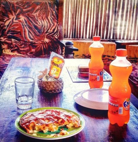 Lunch at Saadani National Park Konyagi and Fanta Orange
